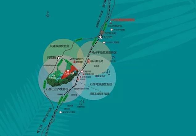 石梅山庄区位图