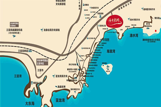 三亚清凤海棠长滩区位图