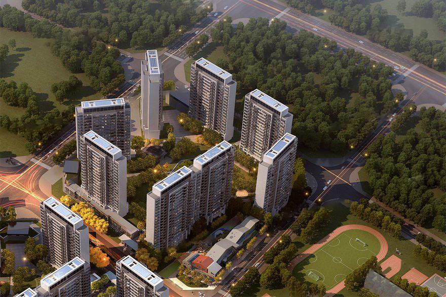 中国滇池花田国际度假区鸟瞰效果图