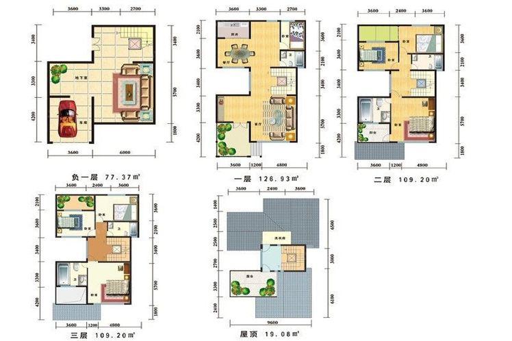 一期 C户型(5层)居室:7室2厅5卫1厨建筑面积:441.78㎡