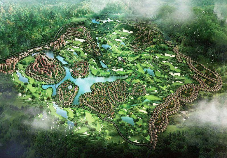 勐巴拉雨林小镇效果图