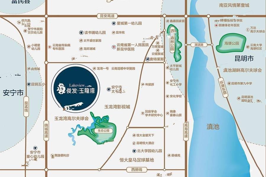 俊发玉龙湾交通图