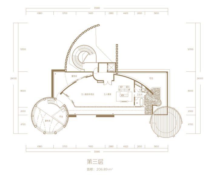 A三层-6房4厅1厨8卫-建筑面积1102.49㎡