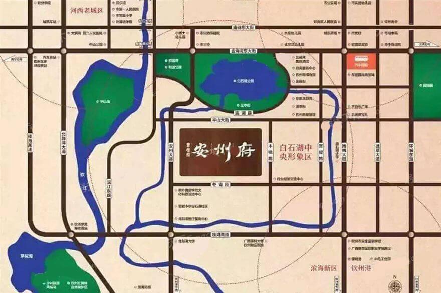 碧桂园安州府区位图