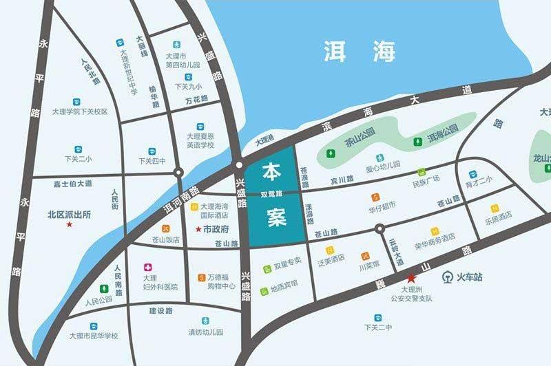 俊发滨江俊园交通图