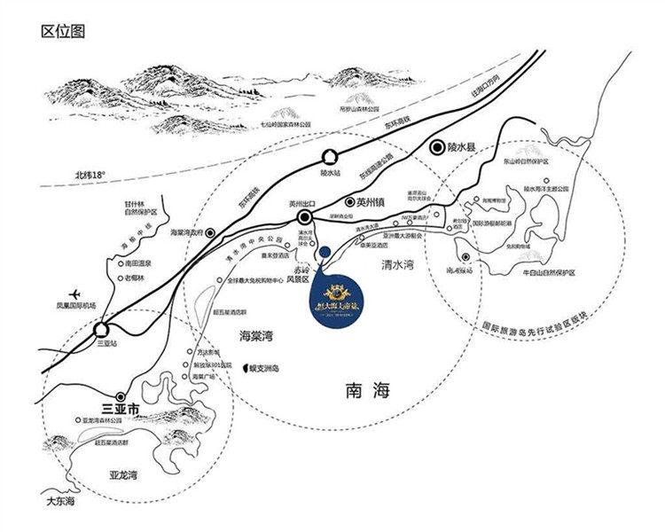 恒大海上帝景交通圖