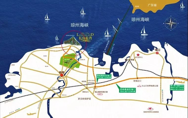 长岛蓝湾实景图交通图