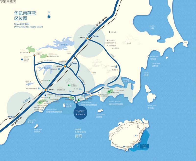 华凯南燕湾交通图