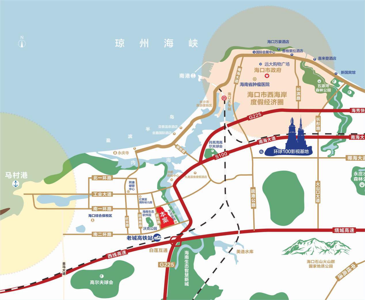 融创美伦熙语交通图