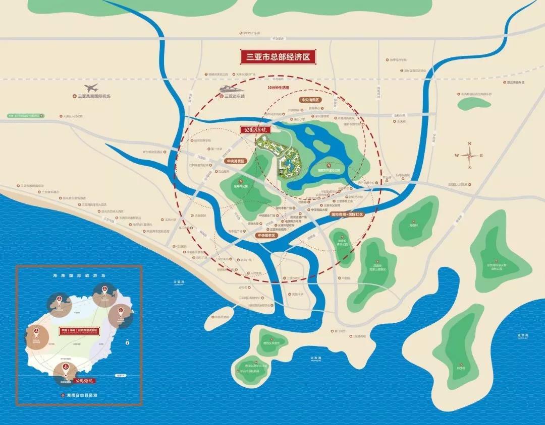 公园88号交通图
