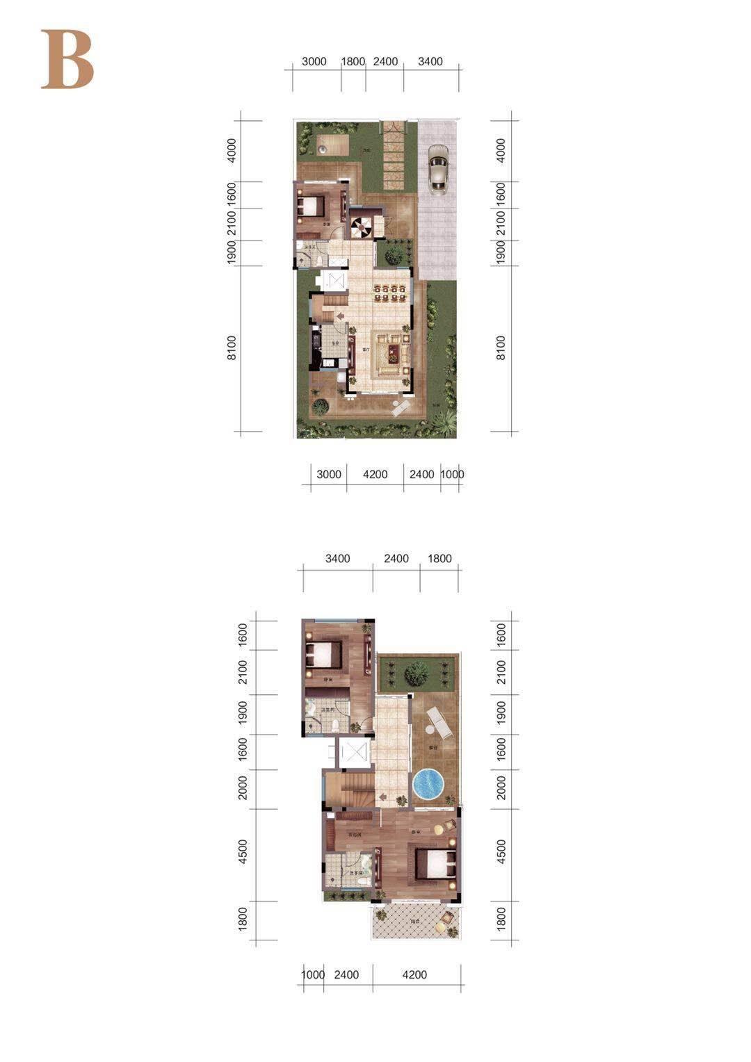怡海湾B户型 建筑面积143㎡ 3室2厅3卫