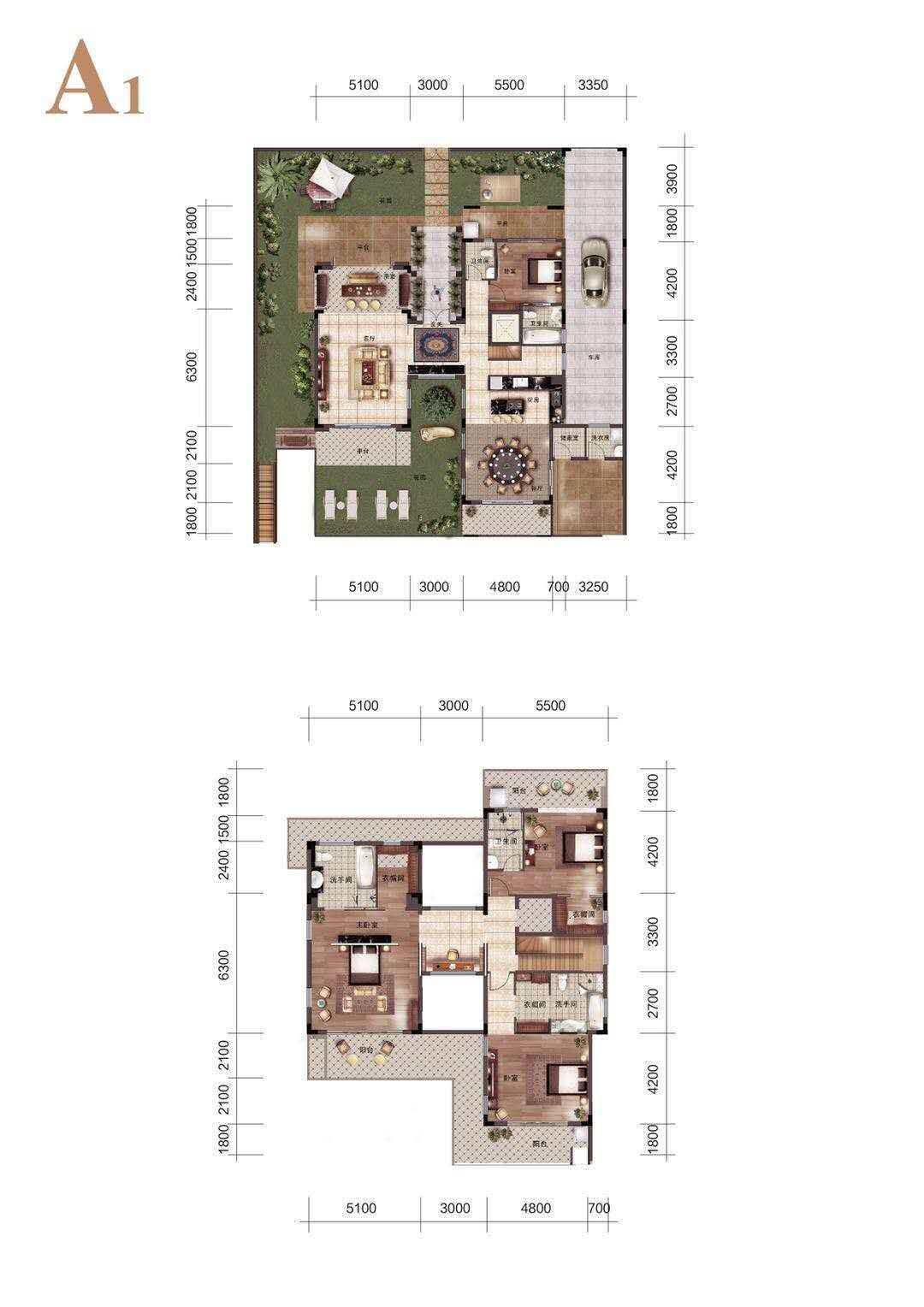 怡海湾A1户型 建筑面积286㎡ 4室3厅5卫
