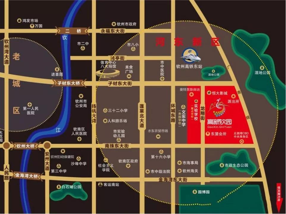钦园御墅交通图
