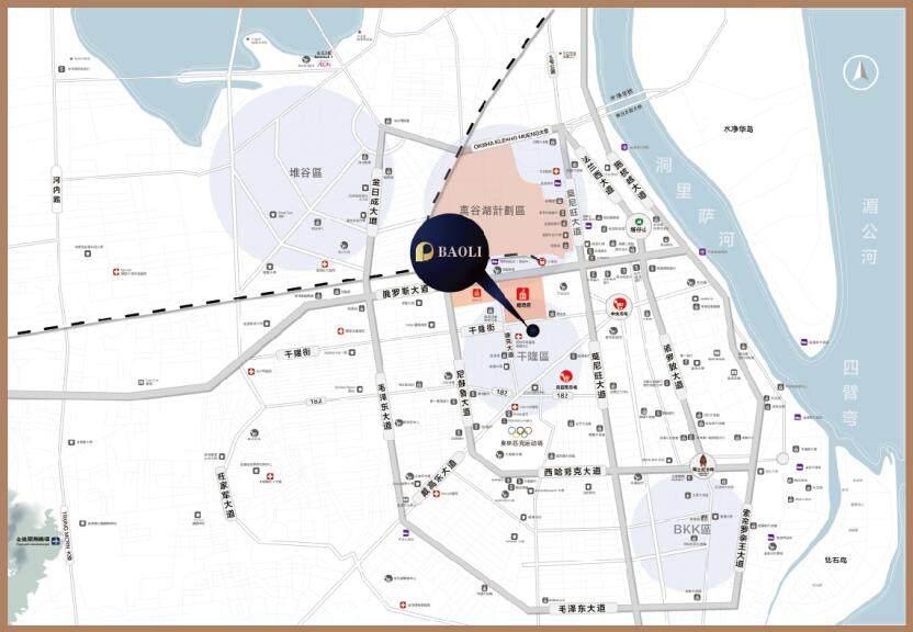 保利1号公馆交通图