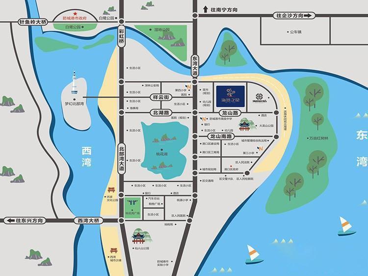 海港之星交通图
