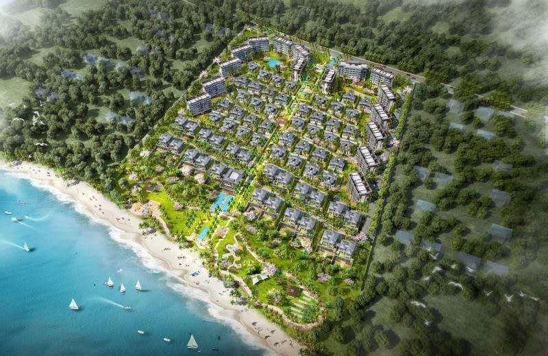 怡海湾项目鸟瞰图