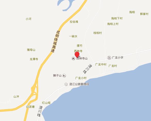 抚仙湖广龙小镇交通图