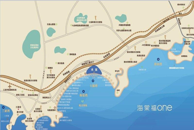 葛洲坝海棠福湾区位图