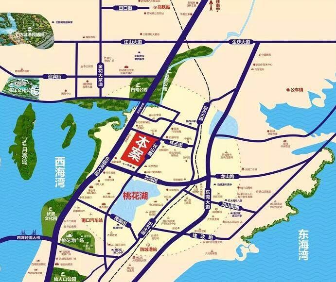 蓝湾湖畔交通图