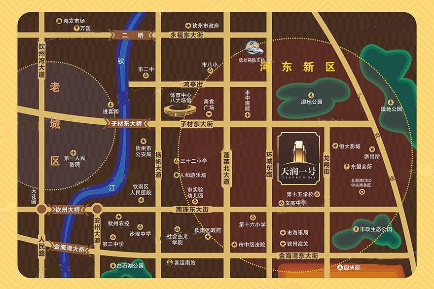 天润一号交通图