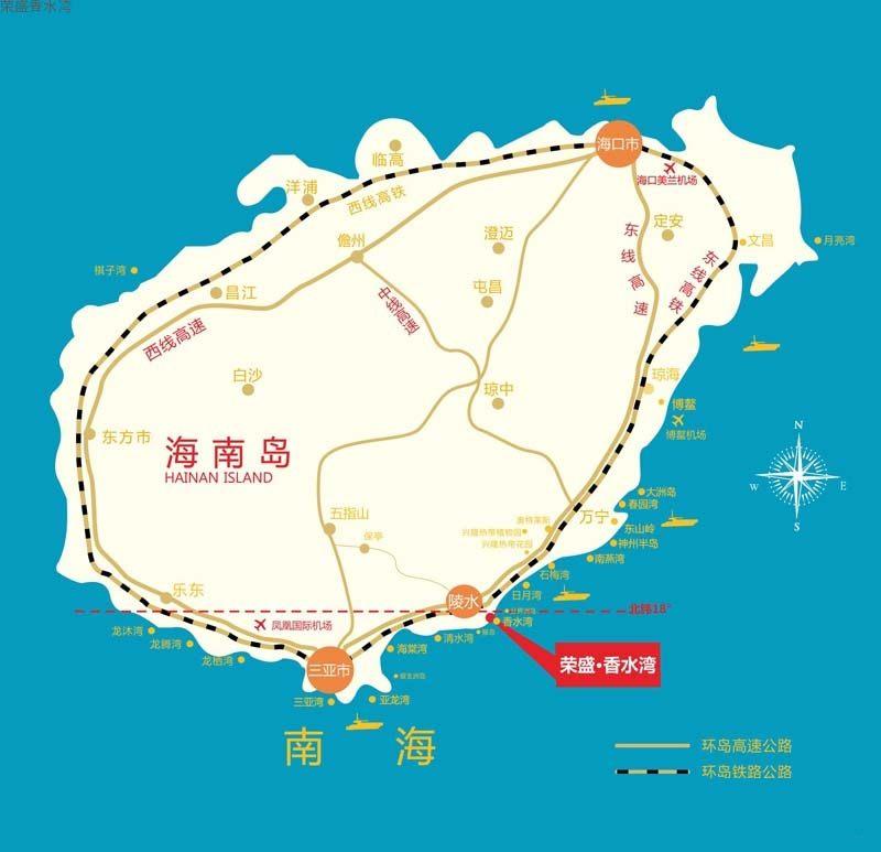 荣盛香水湾区位图