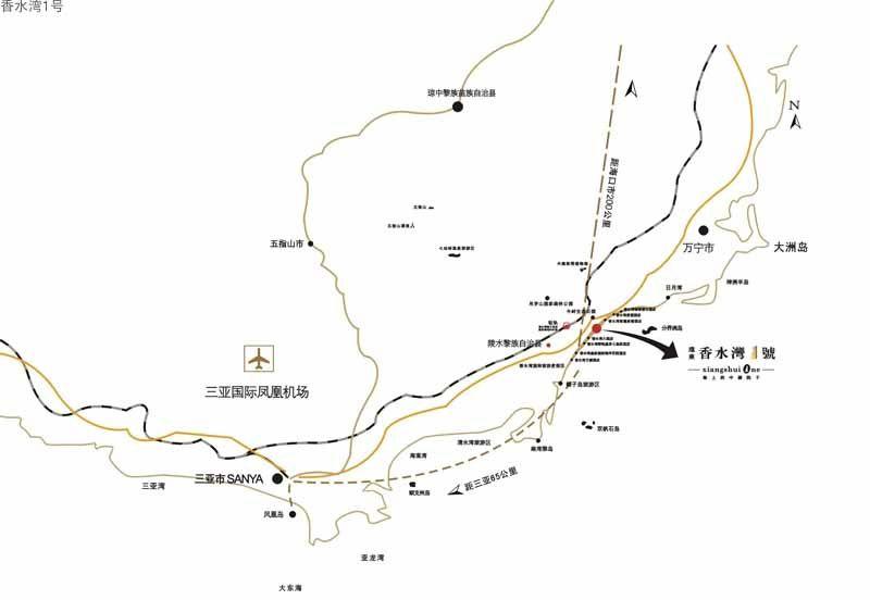 香水湾1号区位图