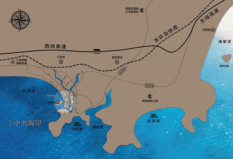 天成中央海岸區位圖