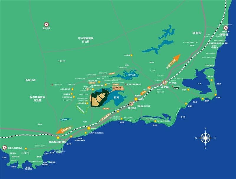 石梅半岛区位图