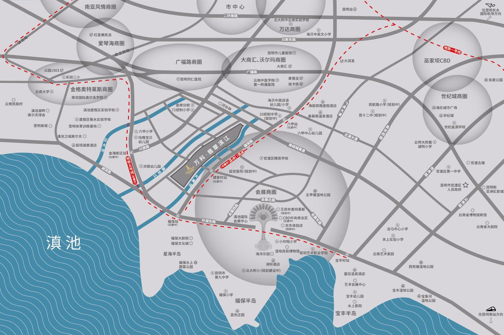 万科翡翠滨江区位图
