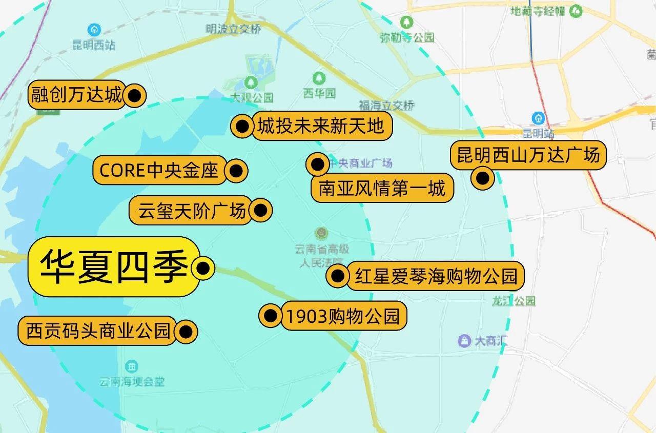 华夏四季商圈区位图