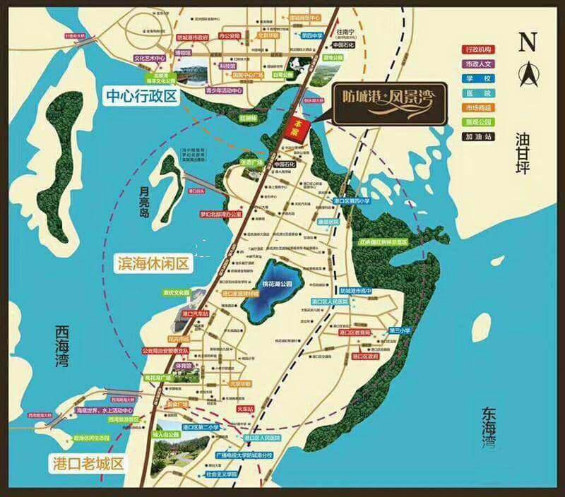 防城港凤景湾区位图