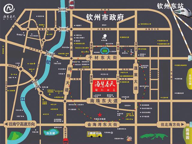 海慧春天国际社区交通图