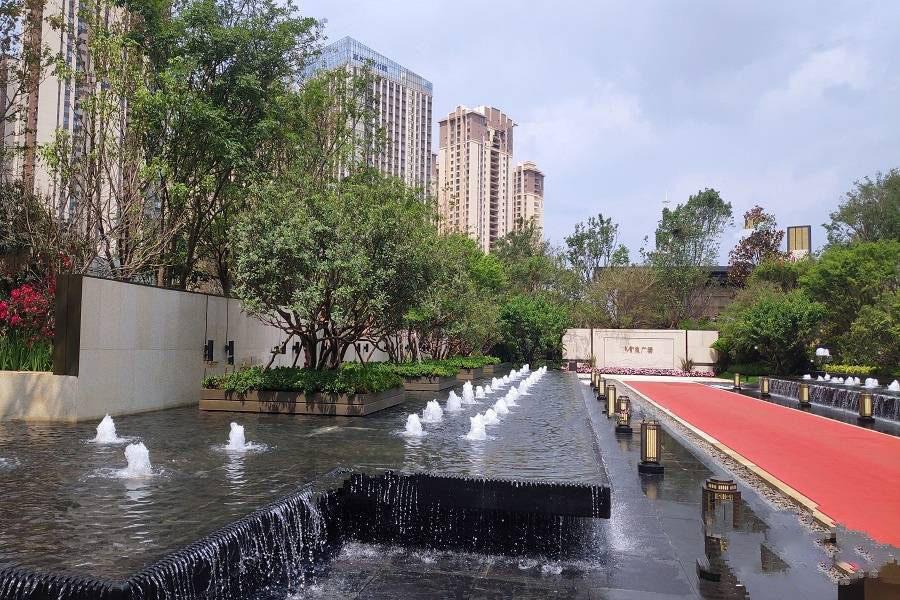 巫家坝金茂广场实景图