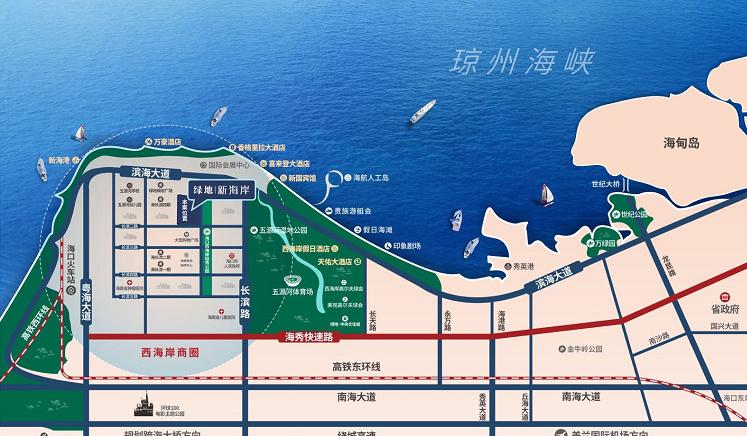 绿地新海岸交通图