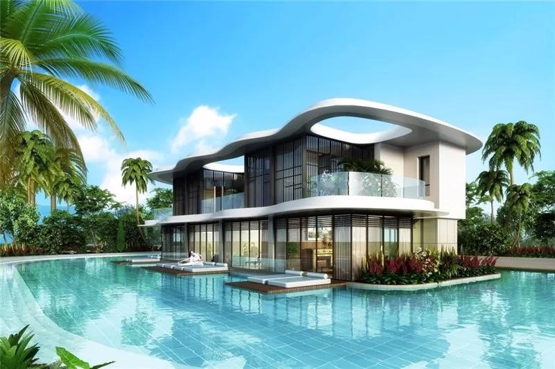 海南三亚清凤海棠长滩享受靠山海景别墅,均价800万/套起