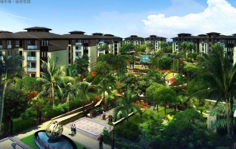 绿中海 绿色家园 在售洋房和别墅 整体均价34500元/㎡